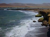 Roja Playa στη χερσόνησο paracas στο Περού Στοκ φωτογραφία με δικαίωμα ελεύθερης χρήσης