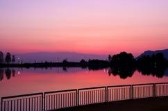 Roja solnedgång Arkivfoton