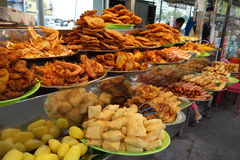 Rojak hawker stall on Gurney Drive, Batu Ferringhi, Malaysia Royalty Free Stock Photo