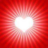 Rojo 01 del corazón Fotos de archivo libres de regalías