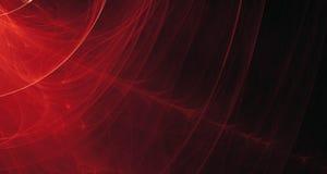 Rojo abstracto, anaranjado, luz del oro brilla intensamente, los haces, formas en fondo oscuro stock de ilustración