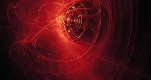 Rojo abstracto, anaranjado, luz del oro brilla intensamente, los haces, formas en fondo oscuro Fotografía de archivo libre de regalías