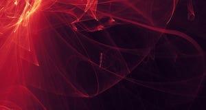 Rojo abstracto, anaranjado, luz del oro brilla intensamente, los haces, formas en fondo oscuro Imágenes de archivo libres de regalías