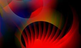 Rojo abstracto, cubo y papel pintado anaranjado del fondo imagen de archivo libre de regalías