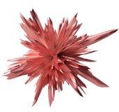 Rojo abstracto de la forma cristalina Fotografía de archivo libre de regalías