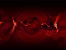 Rojo abstracto del fondo ilustración del vector