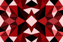 Rojo abstracto del polígono Fotos de archivo