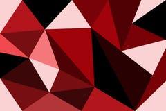 Rojo abstracto del polígono Foto de archivo libre de regalías