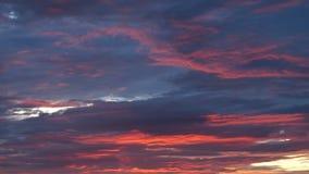Rojo anaranjado Grey Clouds fotos de archivo libres de regalías
