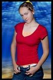Rojo ardiente en el acuario Fotos de archivo libres de regalías