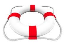 Rojo blanco del guardacostas del ahorrador SOS del rescate del agua del conservante de vida 3d Imagen de archivo