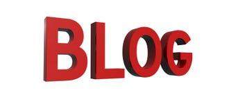 Rojo-blog fotografía de archivo