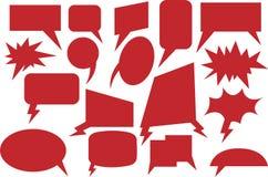 Rojo cómico de la burbuja del discurso Fotografía de archivo