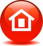 Rojo casero del icono del web del botón libre illustration