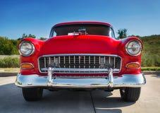 Rojo Chevrolet 1955 210 Foto de archivo libre de regalías