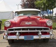 1954 rojo Chevy Bel Air Front View Foto de archivo