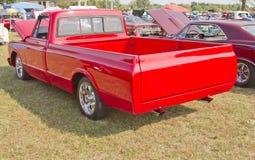 1970 rojo Chevy Truck Foto de archivo