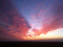Rojo como puesta del sol Imagen de archivo libre de regalías