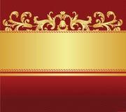 Rojo con el fondo del oro libre illustration