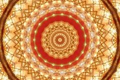 rojo con el ornamento brillante anaranjado Imagenes de archivo