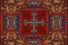 rojo con el ornamento oriental brillante marrón Foto de archivo libre de regalías