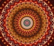 rojo con el ornamento oriental brillante marrón Imagen de archivo libre de regalías