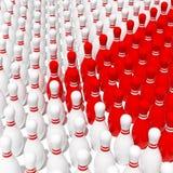 Rojo contra blanco stock de ilustración