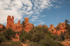 Rojo de Bryce Canyon Imagen de archivo libre de regalías