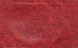 Rojo de cuero, liso Foto de archivo libre de regalías
