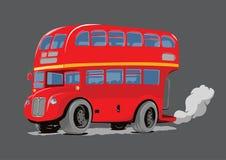 Rojo de Decker Bus del doble de Londres stock de ilustración