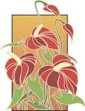 Rojo de Deko del arte de las flores Foto de archivo libre de regalías