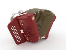 Rojo de la armónica Imágenes de archivo libres de regalías