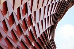 Rojo de la arquitectura Imágenes de archivo libres de regalías