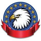 Rojo de la bandera del águila Fotos de archivo