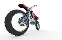 Rojo de la bici de la suciedad - Front Wheel Shot Imagen de archivo libre de regalías