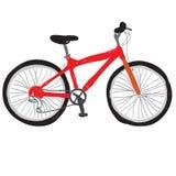 Rojo de la bicicleta Fotos de archivo libres de regalías