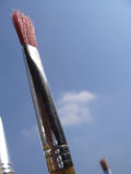 Rojo de la brocha Imagenes de archivo