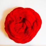 Rojo de la bufanda en el fondo blanco Imágenes de archivo libres de regalías