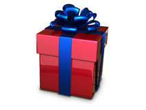 Rojo de la caja de regalo Imagen de archivo libre de regalías