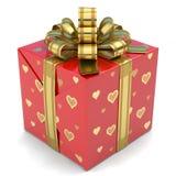 Rojo de la caja de regalo Imágenes de archivo libres de regalías