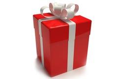 Rojo de la caja de regalo Imagenes de archivo