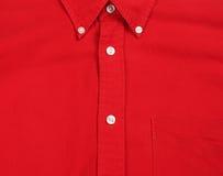 Rojo de la camisa Foto de archivo libre de regalías
