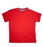 Rojo de la camiseta Imágenes de archivo libres de regalías
