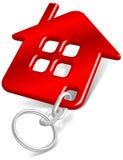 Rojo de la casa de la baratija Imágenes de archivo libres de regalías