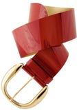 Rojo de la correa de la mujer imagen de archivo libre de regalías