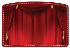 Rojo de la cortina stock de ilustración