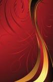 Rojo de la elegancia stock de ilustración
