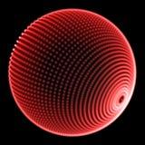 Rojo de la esfera 3d en negro ilustración del vector