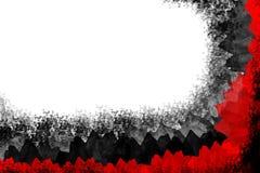 Rojo de la esquina abstracto, blackcolors. Fotos de archivo