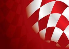 Rojo de la esquina Checkered Fotografía de archivo libre de regalías